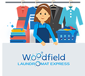 Woodfield laundromat express counter